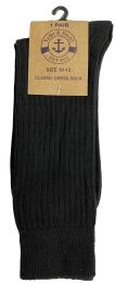 60 Units of Yacht & Smith Mens Black Dress Socks, Sock Size 10-13 Cotton Ribbed Classic Dress Sock - Mens Dress Sock