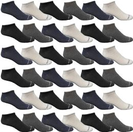 36 Units of Yacht & Smith Wholesale Men's Cotton Shoe Liner Training Socks Size 10-13 (assorted, 36) - Mens Ankle Sock