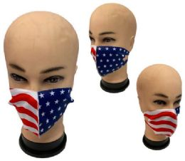 24 Units of Cloth Mask Assorted Colors USA FLAGS - PPE Mask