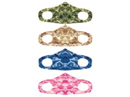 60 Units of 4 Asst. Camouflage Adult Size Fabric Fashion Face Cover NoN-Medical - Face Mask