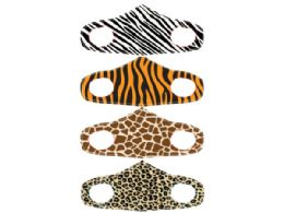 60 Units of Animal Design Washable Fashion Fabric Face Cover 4 Asst - Face Mask
