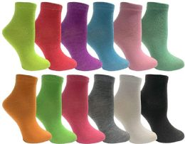 12 Units of Yacht & Smith Womens Low Cut Neon Ankle Socks - Womens Ankle Sock