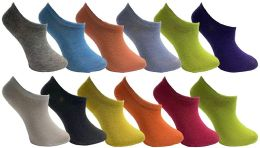 12 Units of Yacht & Smith Womens Foot Ped Neon Ankle Socks - Womens Ankle Sock