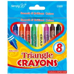 144 Units of 8ct Triangle Crayons - Chalk,Chalkboards,Crayons