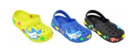 36 Units of Toddlers Clogs With Printed Sharks - Girls Footwear