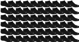 120 Units of Yacht & Smith Wholesale Boys and Girls 97% Cotton Shoe Liner Training Socks Size 6-8, No Show Thin Low Cut Sport Ankle Socks Black - Girls Ankle Sock