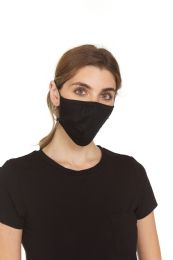12 Units of Yacht & Smith Face Cover Wholesale Bulk Pack Breathable & Comfortable Filter Safety Cover (12 Pack, Black) - Face Mask