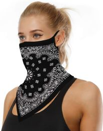 12 Units of Assorted Printed Neck Gaiter Scarf Shield Bandana With Ear Loops Face Cover Balaclava - Personal Care