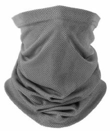 20 Units of FACE MASK SCARF W/ EARLOOPS Solid Gray - Face Mask