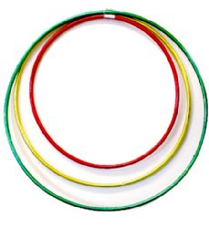 108 Units of HULA HOOP SOLID GLITTER ASST S.M.L - Summer Toys