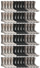 72 Units of Yacht & Smith Men's Cotton Sports Crew Socks, Assorted Colors Size 10-13 BULK PACK - Mens Crew Socks