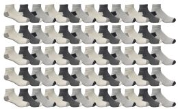 60 Units of Yacht & Smith Men's Premium Cotton Sport Ankle Socks Size 10-13 Packed Assorted Colors - Mens Ankle Sock