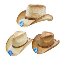 24 Units of Classic Woven Cowboy Hat [thin Braided Hat Band] - Cowboy & Boonie Hat