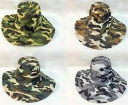 24 Units of Wholesale Camo Boonie/ Fishing Hat - Fishing Items