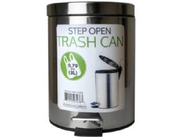 6 Units of 3 Liter Step Open Trash Can - Garbage & Storage Bags