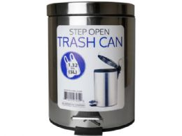 6 Units of 5 Liter Step Open Trash Can - Cleaning Supplies