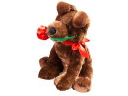18 Units of Plush Dog With Rose - Plush Toys