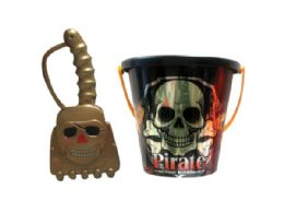 72 Units of Assorted 6 Pirate Bucket With Shovel - Buckets & Basins