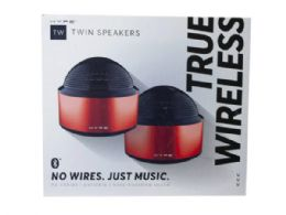 6 Units of hype red true wilress twin pairing rechargeable bluetooth sp - Store