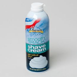 12 Units of Shave Cream 12oz Sensitive Mens Chases Smooth Track - Shaving Razors
