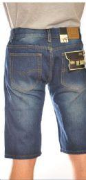 24 Units of MEGA CLUB FASHION DENIM SHORTS MEDIUM BLUE COLOR IN ASSORTED SIZES - Mens Shorts