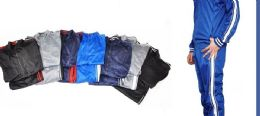 12 Units of TRICOT MENS JACKET AND JOGGER SET IN SOLID COLOR ASSORTED SIZES - Mens Sweatpants