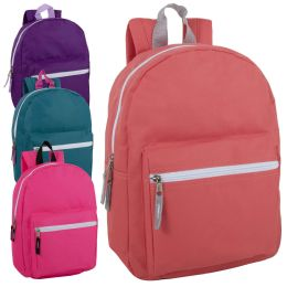 "24 Units of 15 Inch Basic Backpack For Girls - Backpacks 15"" or Less"