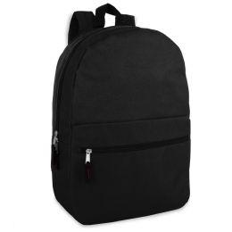 "24 Units of 17 Inch Black Backpack - Backpacks 17"""