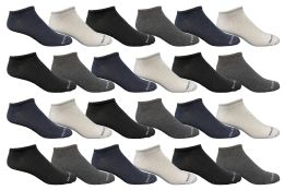24 Units of Yacht & Smith Kids Poly Blend Light Weight No Show Ankle Socks Solid Assorted 4 Colors Size 6-8 - Girls Ankle Sock