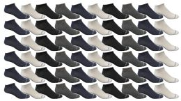 60 Units of Yacht & Smith Kids Poly Blend Light Weight No Show Ankle Socks Solid Assorted 4 Colors Size 6-8 - Girls Ankle Sock