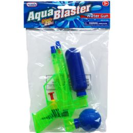 "48 Units of 6.75"" Water Gun In Poly Bag W/ Header, 3 Assrt Clrs - Water Guns"