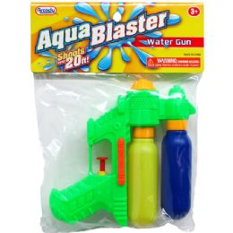 "144 Units of 6"" 2-Tank Mini Water Gun In Poly Bag W/header, 3 Assrt - Water Guns"