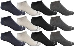 12 Units of Yacht & Smith Womens Poly Blend Light Weight No Show Ankle Socks Solid Assorted 4 Colors - Womens Ankle Sock
