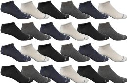 24 Units of Yacht & Smith Womens Poly Blend Light Weight No Show Ankle Socks Solid Assorted 4 Colors - Womens Ankle Sock