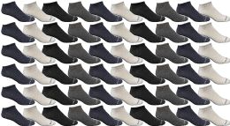 60 Units of Yacht & Smith Womens Poly Blend Light Weight No Show Ankle Socks Solid Assorted 4 Colors - Womens Ankle Sock
