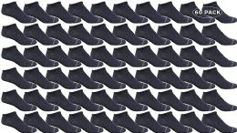 60 Units of Yacht & Smith Women's Poly Blend Light Weight No Show Loafer Ankle Socks Solid Navy - Womens Ankle Sock