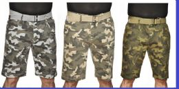 24 Units of MEN'S FASHION PRINTED CAMO CHINO SHORT - Mens Shorts
