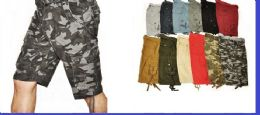 12 Units of MEN'S FASHION CARGO SHORTS - Mens Shorts