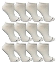 12 Units of Yacht & Smith Womens 97% Cotton Light Weight No Show Ankle Socks Solid White - Womens Ankle Sock