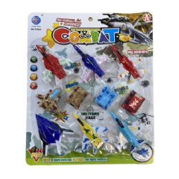 12 Units of Ten Piece Military Combat Plane And Tank Set - Light Up Toys