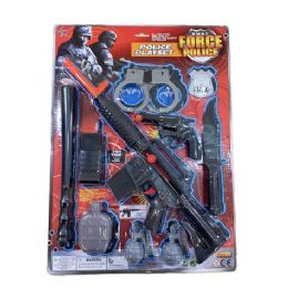 12 Units of Ten Piece SWAT Force Police Playset - Toy Weapons