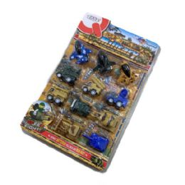 12 Units of Eleven Piece Mini Military Combat Vehicles - Cars, Planes, Trains & Bikes