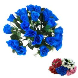24 Units of Solid Color Roses - Artificial Flowers