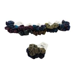 120 Units of 2 Piece Holographic Glitter Scrunchie - Hair Scrunchies