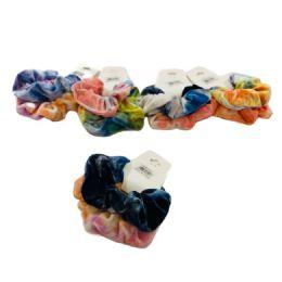 120 Units of 2 Piece Tie Dye Scrunchie - Hair Scrunchies