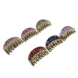 72 Units of Claw Clip With Letters Metallic Sparkle - Hair Scrunchies