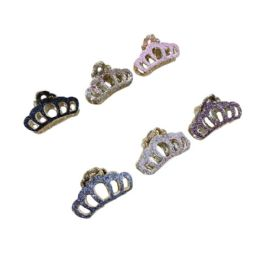 72 Units of Claw Clip Metallic Sparkle - Hair Scrunchies