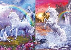 100 Units of 3D Picture Unicorns with Rainbows - Home Decor