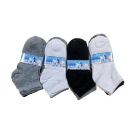 144 Units of Boys Quarter Socks Sports - Boys Ankle Sock