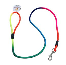 72 Units of Rainbow Rope Leash - Pet Collars and Leashes